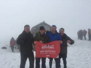 Very cold up on Ben Nevis