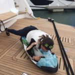 Trying out the toys on the Princess 30M