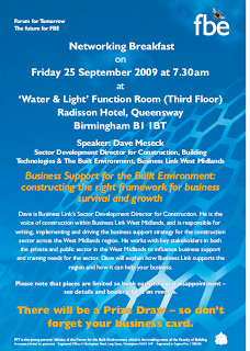 If you are involved in construction, development or architecture you need to be here on the 25th September…