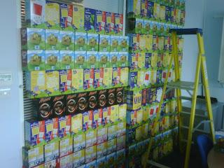 Humpty Dumpty Wall of Eggs.