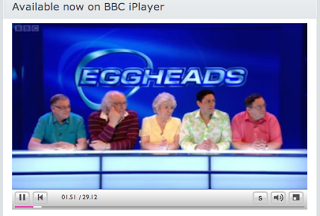 We are so excited BBC2 tomorrow and Norm is on EGGHEADS