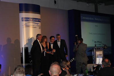 Double Award Winners – OWB wins in the 2012 Birmingham Post Business Awards