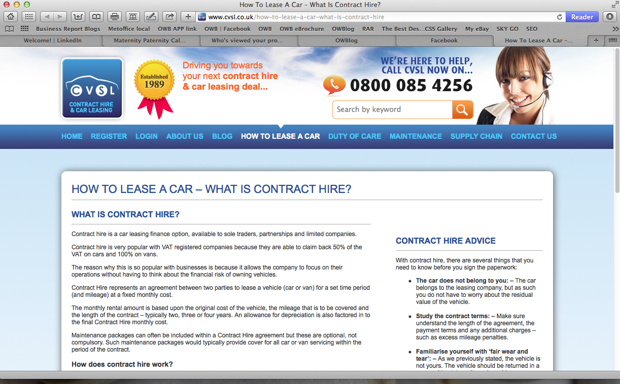 New HOW TO pages drive contract hire online strategy