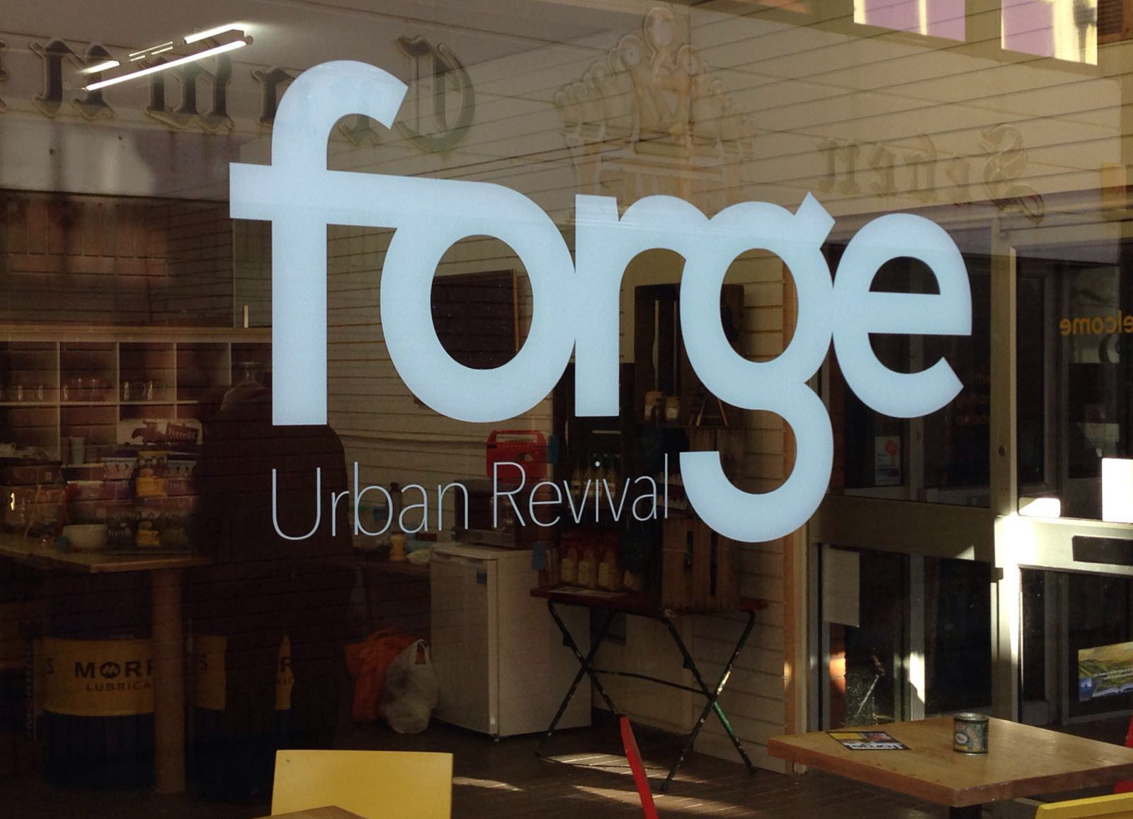 Andy attends opening of Forge : Urban Revival