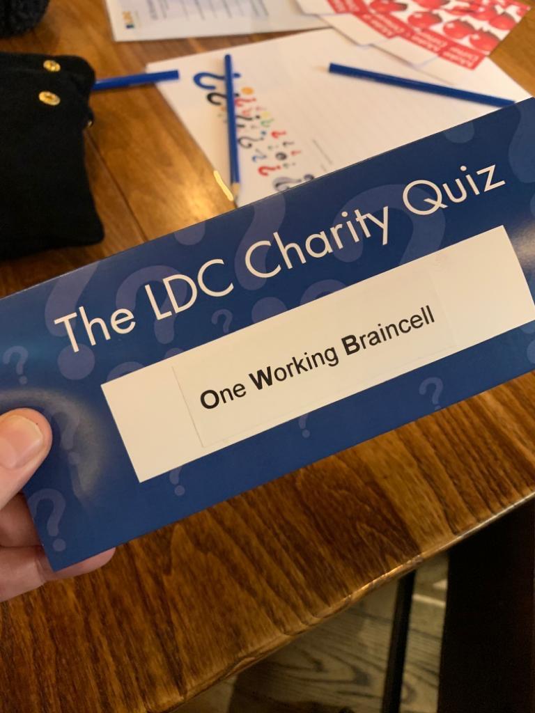LDC Charity Quiz night 2019